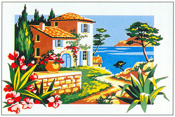 SEG de Paris Needlepoint - Path to the Sea