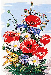SEG de Paris Needlepoint - Small Needlepoint Canvases - Flowers 1 Canvas