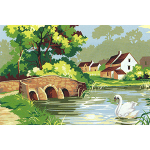 SEG de Paris Needlepoint - Paysage Canvas (The Bridge)