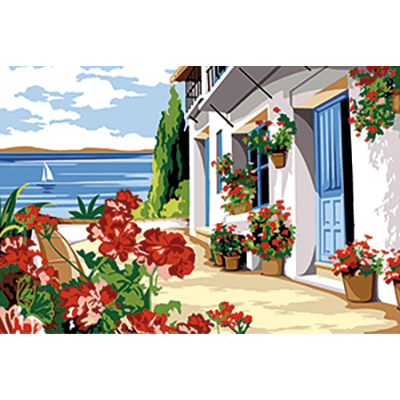 SEG de Paris Needlepoint - Small Needlepoint Canvases - Terrasse Fleurie