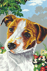 SEG de Paris Needlepoint - Small Needlepoint Canvases - Jack Russell