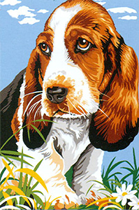 SEG de Paris Needlepoint - Small Needlepoint Canvases - Basset