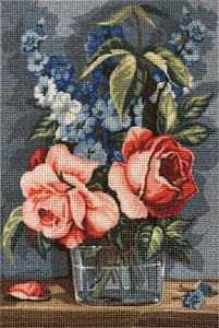 SEG de Paris Needlepoint - De Rose et de Bleu