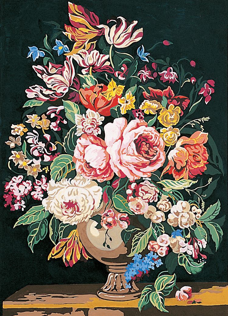 Sunflowers /& Blue Flowers SEG de Paris Tapestry//Needlepoint Canvas