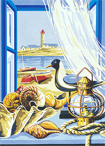 SEG de Paris Needlepoint - Fenetre sur mer (Window by the Sea)