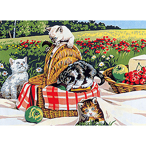 SEG de Paris Needlepoint - Pique-Nique Party (Picnic Party) Medium Canvas