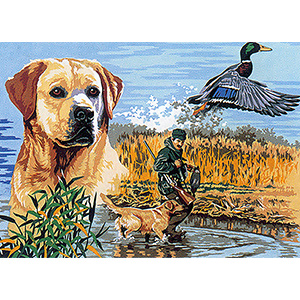 SEG de Paris Needlepoint - Medium Needlepoint Canvases - Carnet de Chasse (Sport of Hunting) Canvas