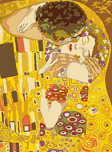 SEG de Paris Needlepoint - Le Baiser d'apres G. Klimt (The Kiss by G. Klimt)