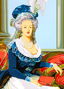 SEG de Paris Needlepoint - Medium Needlepoint Canvases - Marie Antoinette