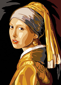 SEG de Paris Needlepoint - Medium Needlepoint Canvases - La Jeune Fille a la Perle (The Girl with the Pearl Earring by Vermeer)
