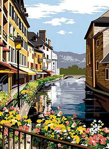 SEG de Paris Needlepoint - Medium Needlepoint Canvases - Annecy (Venise des Alpes)