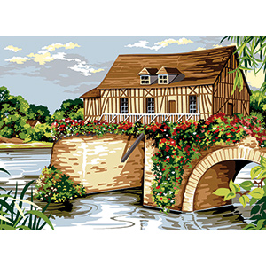 SEG de Paris Needlepoint - Medium Needlepoint Canvases - Le Moulin Vermon