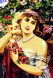 SEG de Paris Needlepoint - Medium Needlepoint Canvases - Le Printemps, Emile Vernon (Spring by Emile Vernon)