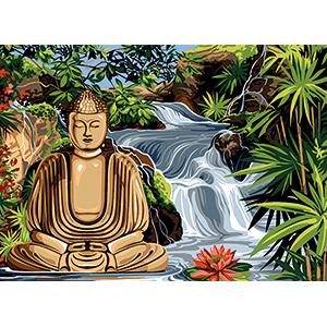 SEG de Paris Needlepoint - Medium Needlepoint Canvases - Bouddha