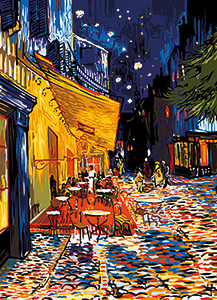 SEG de Paris Needlepoint - Medium Needlepoint Canvases - Terrasse de Cafe by Van Gogh