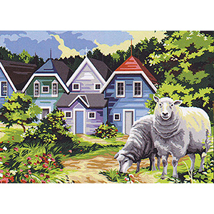 SEG de Paris Needlepoint - Medium Needlepoint Canvases - Le Chemin de la Baie (Path by the Bay)