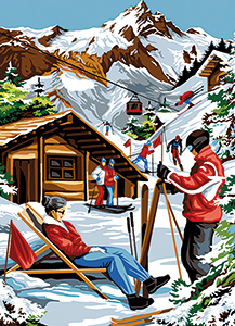 SEG de Paris Needlepoint - Medium Needlepoint Canvases - Vallee Blanche (White Valley)