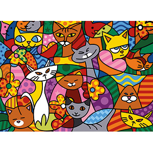 SEG de Paris Needlepoint - Medium Needlepoint Canvases - Color Cats