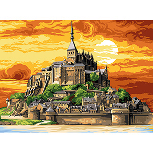SEG de Paris Needlepoint - Medium Needlepoint Canvases - Mont St Michel