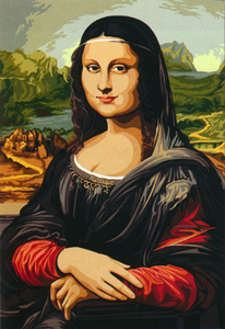 SEG de Paris Needlepoint - Medium Needlepoint Canvases - La Joconde (Mona Lisa)