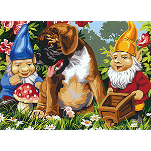SEG de Paris Needlepoint - Medium Needlepoint Canvases - Les Copains du Jardin (Garden Companions)