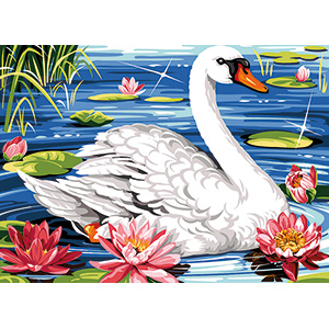SEG de Paris Needlepoint - Medium Needlepoint Canvases - Le Cygne (The Swan)