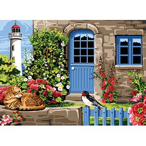 SEG de Paris Needlepoint - Medium Needlepoint Canvases - Havre de Paix Breton