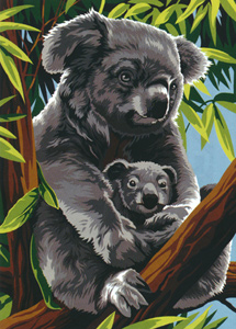 SEG de Paris Needlepoint - Medium Needlepoint Canvases - Koala