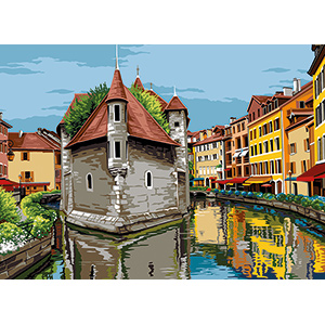 SEG de Paris Needlepoint - Medium Needlepoint Canvases - Annecy
