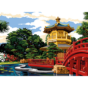 SEG de Paris Needlepoint - Medium Needlepoint Canvases - Garden of Nanlian
