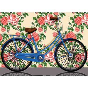 SEG de Paris Needlepoint - Bicyclette Retro