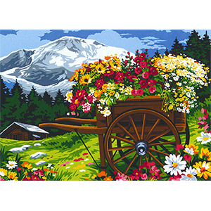 SEG de Paris Needlepoint - La Charrue (The Wheelbarrow)