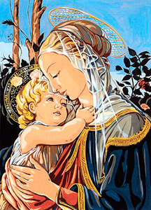 SEG de Paris Needlepoint - Madone d' apres Botticelli (Madonna by Botticelli)