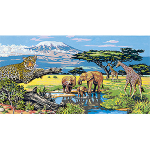 SEG de Paris Needlepoint - Tapestries - Kilimanjaro Canvas