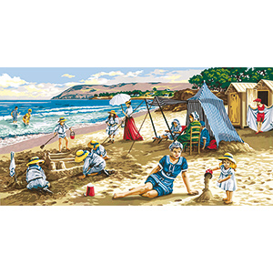 SEG de Paris Needlepoint - Tapestries - Une Journee a la Plage (A Day at the Beach)