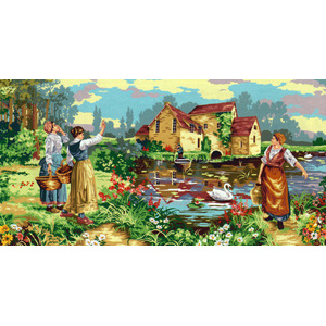 SEG de Paris Needlepoint - Tapestries - L'Appel du Passeur (Call to the Ferryman)