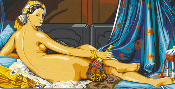SEG de Paris Needlepoint - Tapestries - La Grande Odalisque (d'apres J.D. Ingres)