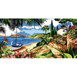 SEG de Paris Needlepoint - Tapestries - Mer Azur (Blue Sea)
