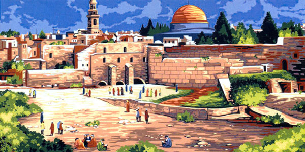 SEG de Paris Needlepoint - Tapestries - La Cite de David (City of David)