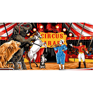 SEG de Paris Needlepoint - Tapestries - Circus