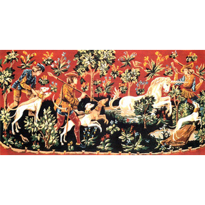 SEG de Paris Needlepoint - Tapestries - Chasse a la Licorne (Chase of the Unicorn Canvas)