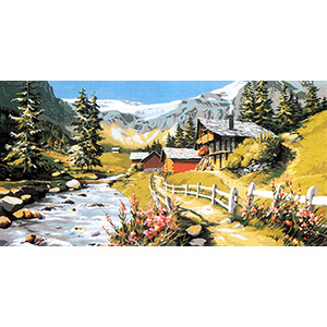SEG de Paris Needlepoint - Tapestries - Mountain Torrent Canvas