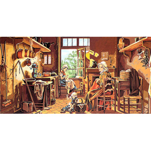 SEG de Paris Needlepoint  - Tapestries - Interior Scene Canvas