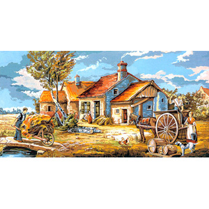 SEG de Paris Needlepoint - Tapestries - Rural Scene Canvas