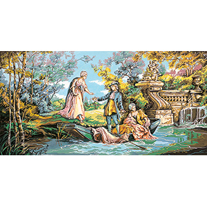 SEG de Paris Needlepoint  - Tapestries -Gallant Promenade Canvas