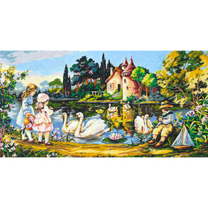 SEG de Paris Needlepoint - Tapestries - Swan Manor Canvas