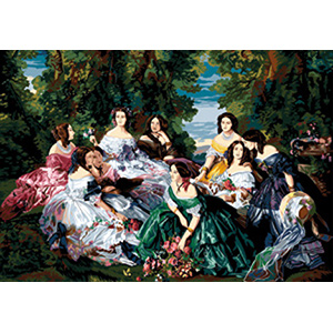 SEG de Paris Needlepoint - Tapestries - Eugenie et ses Dames d'Honneur