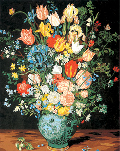 SEG de Paris Needlepoint - Le Vase Bleu (The Blue Vase)