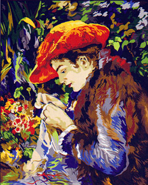 SEG de Paris Needlepoint - Large Canvases - Marie-Therese Durand-Ruel by Pierre-Auguste Renoir