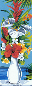 SEG de Paris Needlepoint - Small Needlepoint Canvases - Tropical Vase